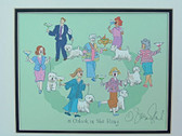 """5 O'clock in the Ring"" Westie Print"
