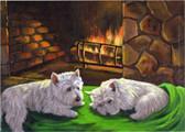 """""""A Winter's Night"""" Westie Card"""