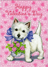"""Happy Valentine's Day"" Westie Card"