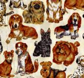 Vintage Hoffman Dog Print Fabric