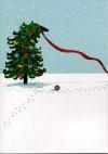 Tree Trimming Scottie Card