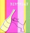 Scottie with Bottle Birthday Card