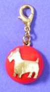 Maximal Art Red Scottie Charm