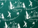 Aunt Grace Scottie Silhouettes on Green Fabric