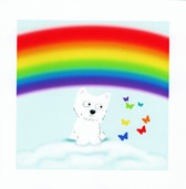 Westie and Rainbow Sympathy Card