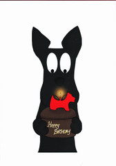 Scottie and Birthday Candle Card
