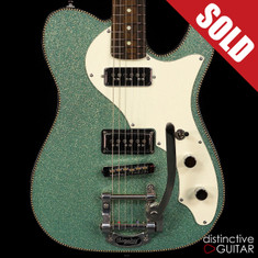 Red Rocket Custom Atomic Telecaster Blue Sea Glass Sparkle
