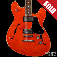 Fano Alt de Facto GF6 Semi-Hollow Faded Cherry