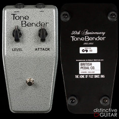 British Pedal Company 50th Anniversary Limited Edition MK1.5 Tone Bender Fuzz Silver