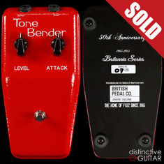 British Pedal Company Limited Edition Brittania OC81D MKII Tone Bender Royal Red