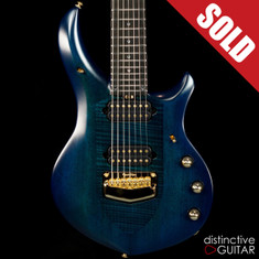Ernie Ball Music Man John Petrucci Signature Majesty 7 Azzurro Gold HW