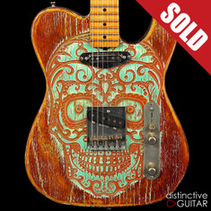 Palir Titan Relic Telecaster Custom Day of the Dead NAMM