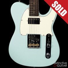 Suhr Classic T Antique Roasted Recovered Sinker Maple #15 Sonic Blue