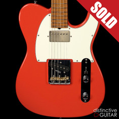 Suhr Classic T Antique Roasted Recovered Sinker Maple #9 Fiesta Red