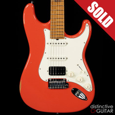Suhr Classic Antique Roasted Recovered Sinker Maple #9 Fiesta Red
