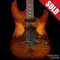 Tom Anderson Drop Top HSS Figured Walnut Honey Burst Shaded Edge