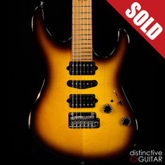 Suhr Modern Antique Guthrie Govan Roasted Recovered Sinker Maple #10 Tobacco Burst