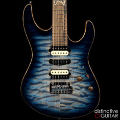 Suhr Modern Custom Distinctive Select #3 Faded Trans Whale Blue Burst