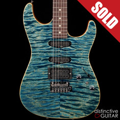Tom Anderson Drop Top Arctic Blue Quilt Maple Top