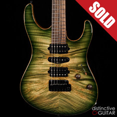 Suhr Modern Carve Top Custom Faded Trans Green Burst JS2A2U