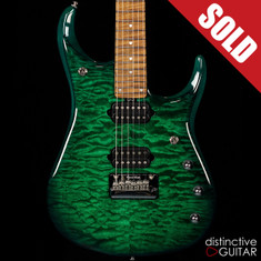 Ernie Ball Music Man JP15 John Petrucci Signature Teal Burst Quilt