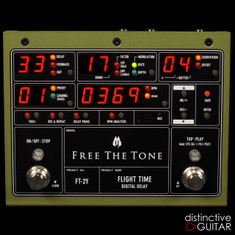 NEW Free The Tone FT-2Y Flight Time Digital Delay Green