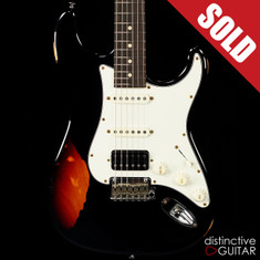 Suhr Classic Antique Black Over 3-Tone Sunburst Limited Edition JS8U9R