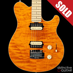 Ernie Ball Music Man Axis Super Sport Trans Gold Quilted Maple Top