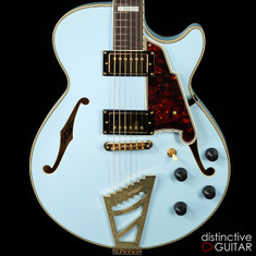 D'Angelico Deluxe SS Limited Matte Powder Blue