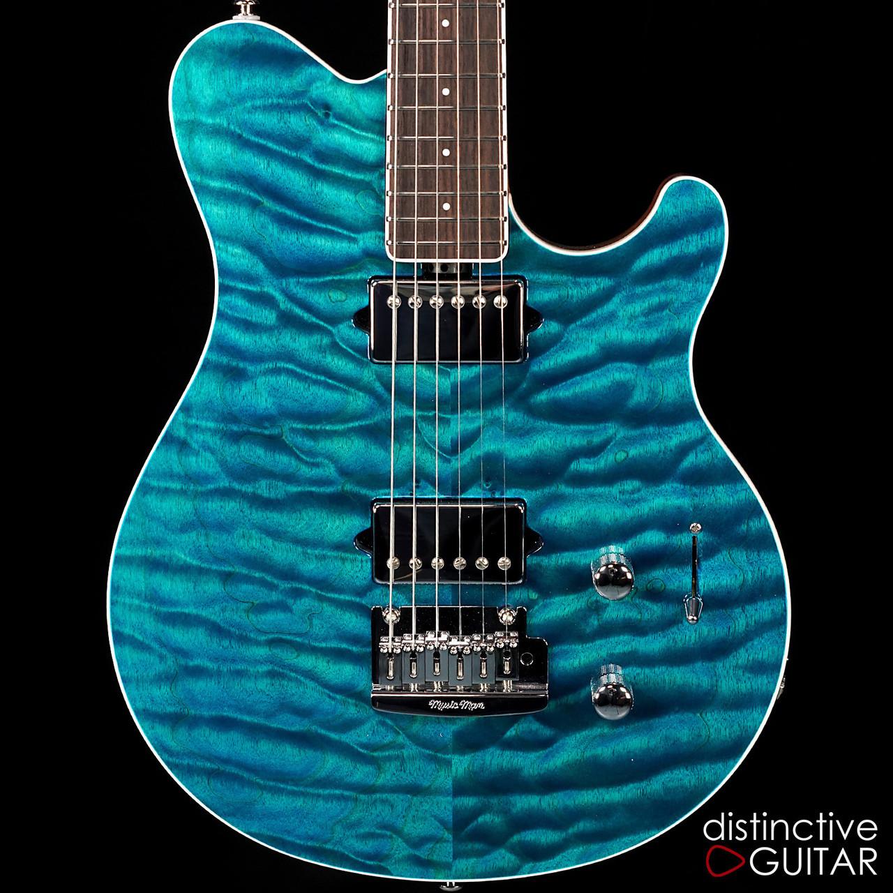 Ernie Ball Music Man Axis Super Sport Bfr 15 Aqua Blue Quilt Maple