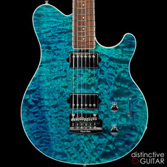 Ernie Ball Music Man Axis Super Sport BFR #16-Aqua Blue Quilt