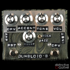 Shin's Music Dumbloid Special Boost Overdrive Pedal Sukimo Leather Black Grain #1224