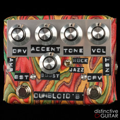 Shin's Music Dumbloid Special Boost Overdrive Pedal Sukimo Leather Red / Green Grain #1225