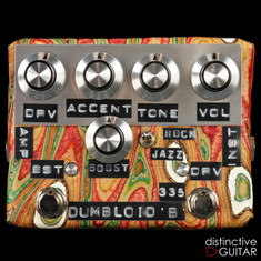 Shin's Music Dumbloid 335 Boost Overdrive Pedal Sukimo Leather Orange Grain #1226