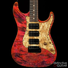 Suhr Standard Custom Waterfall Burl Maple Top Trans Pink Algae JS3Q3L