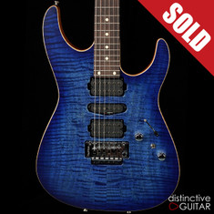 Tom Anderson Angel Satin Jack's Blue Burst Flame Top