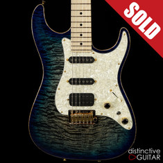 Tom Anderson Drop Top Hollow Natural Black to Blue Burst