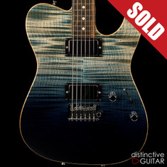 Tom Anderson Cobra Hollow Arctic Blue Surf Flame Top