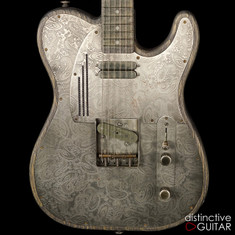 James Trussart SteelTopCaster Antique Silver Paisley #17113