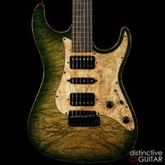 Suhr Standard Custom Waterfall Burl Faded Trans Green Burst JS4Y3A