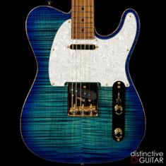Suhr Classic T Deluxe Limited Edition Aqua Blue Burst JS4K9N