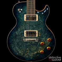 Fibenare Basic Jazz Marine Blue One Piece Burl NAMM Showpiece