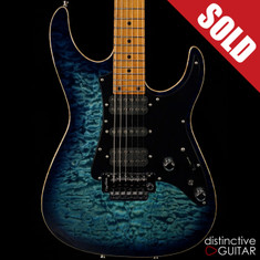 Tom Anderson Guardian Angel Arctic Blue Burst Quilt