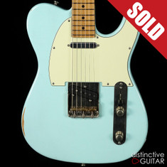 Tom Anderson Top T Icon In-Distress Sonic Blue