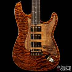Suhr Classic Custom Black Gold Quilt Maple Top JS0R8F