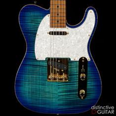 Suhr Classic T Deluxe Limited Edition Aqua Blue Burst JS1G9X