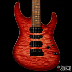Suhr Modern Custom Faded Trans Wine Red Burst Angel Quilt JS2L2P