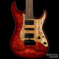 Suhr Standard Custom Waterfall Burl Faded Trans Wine Red Burst JS2F5D