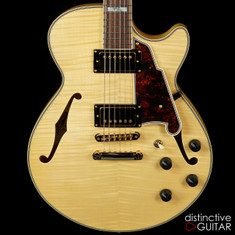 D'Angelico Excel SS Natural Flame Top Semi Hollow
