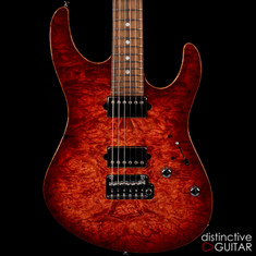 Suhr Modern Custom Faded Trans Wine Red Burst Waterfall Burl JS4N8E